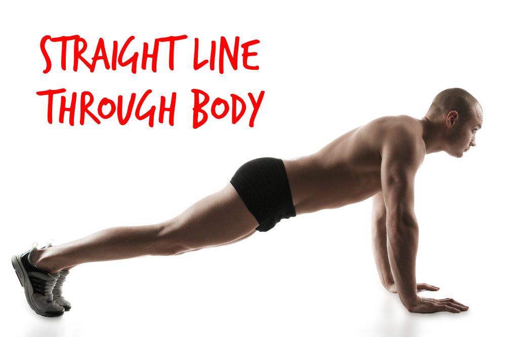 press up straight line