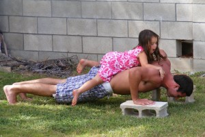 press-ups with daddy
