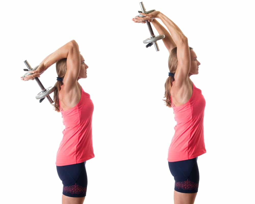 how to lose arm fat fast - tricep extension