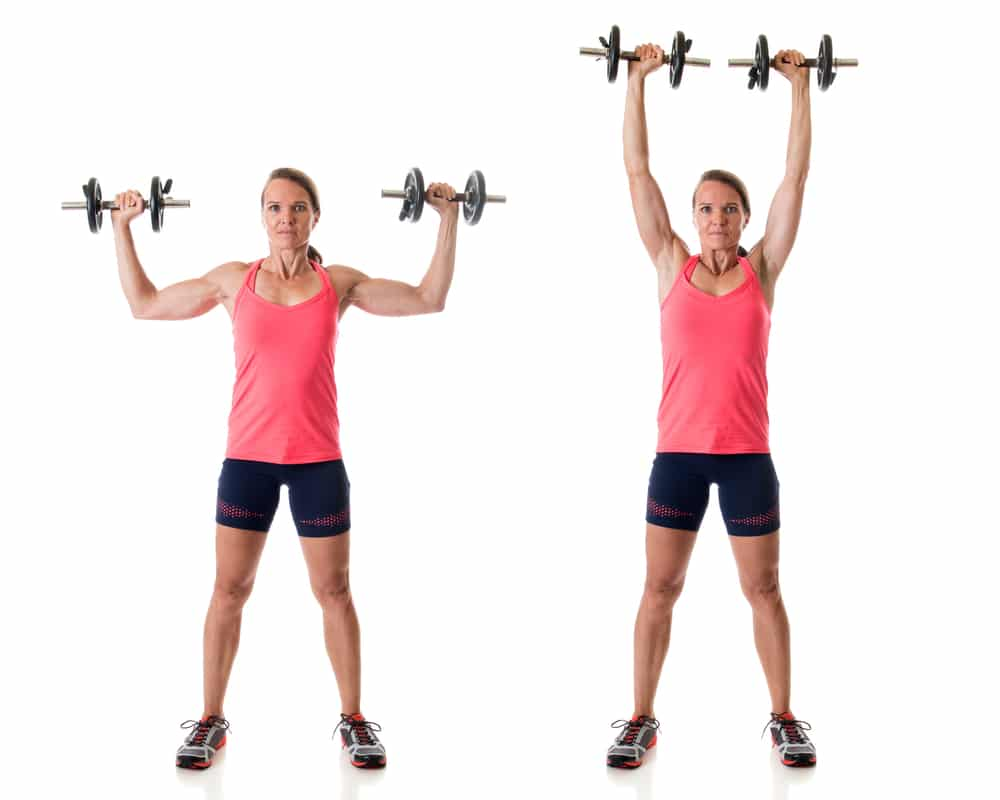 how to lose arm fat fast - overhead press